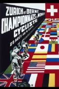 Vintage Swiss cycling poster - Swiss championships